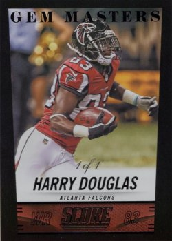 Harry Douglas 2014 Score Gem Masters Black 1 of 1