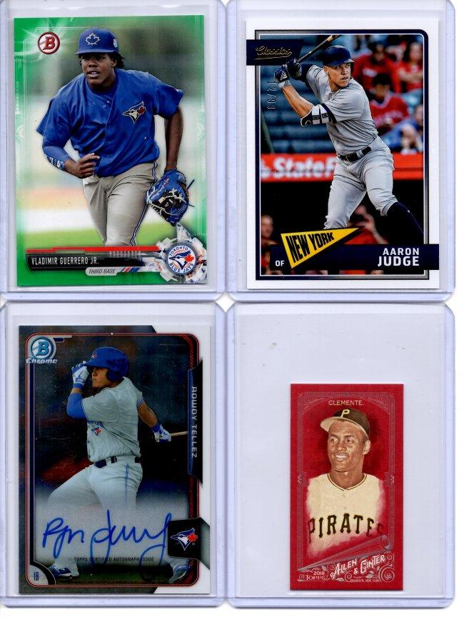 48933d131 2018 Topps Allen and Ginter X Red Mini 4/5 - Roberto Clemente - $80 2015  Bowman Chrome Prospect Autographs - Rowdy Tellez - $20