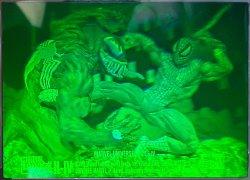 1993  Marvel Universe IV Spiderman vs Venom hologram