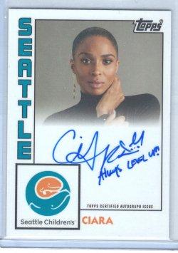 2020 Topps Seattle Childrens Hospital Set Ciara Inscription Autograph