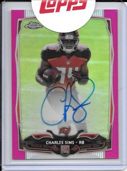 2014 Topps Chrome Pink Refractor Rookie Autograph - Charles Sims