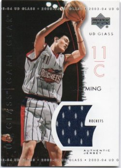 2003-04 Upper Deck UD Glass  Ming, Yao - Game Gear