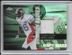 2004 Topps Chrome Gridiron Badges Jersey - Hines Ward