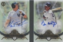 2016 Topps Tribute Mark Teixeira Don Mattingly Tribute Tandem Autographs