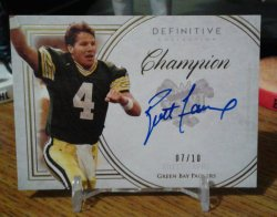 2015 Topps Definitive Legendary Autographs Brett Favre