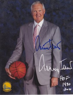 Jerry West Signed IP 8x10 Photo