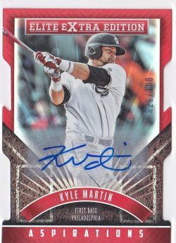 2015 Kyle Martin Elite Extra Edition Aspirations Die-Cut Auto RC /100  Phillies A8654
