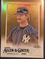 2020 Topps Topps Allen and Ginter Chrome Gold Refractors #70 Don Mattingly