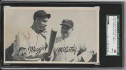 1936   Joe DiMaggio/Joe McCarthy 1936 Goudey Wide Pen SGC 30  12/1/18