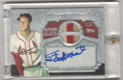 2013 Topps Series 2 Stan Musial The Greats Patch Autograph