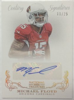 2013 Panini National Treasures Michael Floyd Century