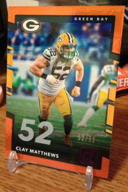 2017 Donruss Donruss Jersey Number Parallel Clay Matthews