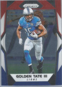 2017 Panini Prizm-Red White and Blue Golden Tate
