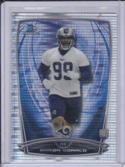 Aaron Donald 2014 Bowman Chrome Pulsar Refractor RC /271