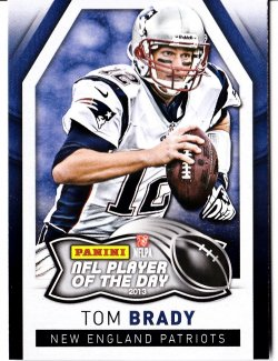 2013 Panini Player of the Day Tom Brady paniniPOD