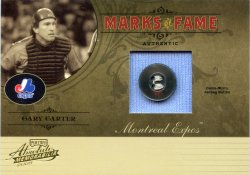 2005 Playoff Absolute Memorabilia Gary Carter Marks of Fame Button