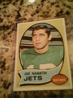 70 Topps  Joe namath