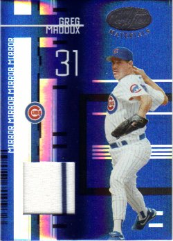 2005 Leaf Certified Materials Mirror Fabric Blue - Cubs