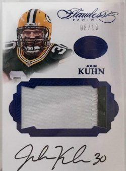 2016 Panini Flawless John Kuhn Patch Auto