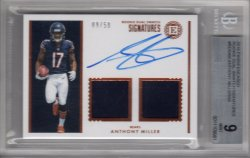 2018 Panini Encased Anthony Miller Rookie Dual Swatch Signatures