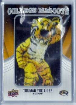 2012 Upper Deck College Mascots Truman the Tiger