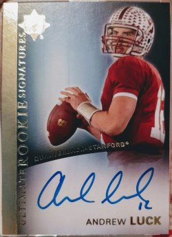 2012 Upper Deck Ultimate Andrew Luck ultimate rookie signatures