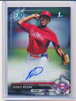 Adonis Medina 2017 Bowman Chrome Prospect Autographs