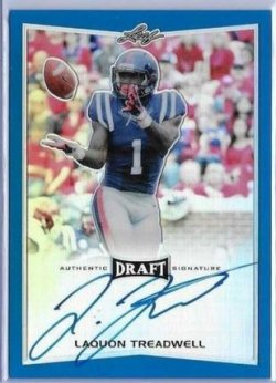 2016 Leaf Metal Draft Laquon Treadwell Blue Auto
