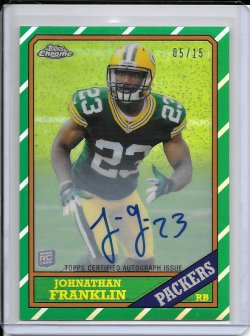 2013 Topps Chrome 1986 Refractor Autograph - Johnathan Franklin