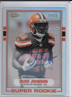2015 Topps Chrome 1989 Refractor Autograph - Duke Johnson