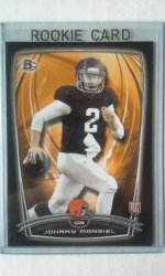 2014 Bowman Black Johnny Manziel