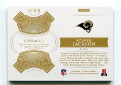 2018 Panini Flawless Steven Jackson Distinguished Patch Autographs Ruby