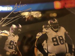 Linval Joseph Signed Personalized 8x10