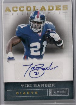 2012 Panini Playbook Tiki Barber Accolades Signatures