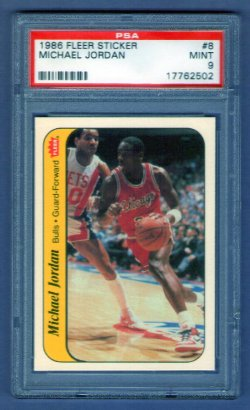 1986 Fleer  Michael Jordan Sticker