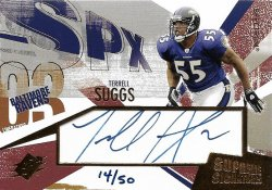 2003 Upper Deck SPX Terrell Suggs 2003 SPX Supreme Signatures Gold Autograph 14 of 50