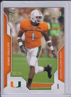 Kenny Phillips 2008 UD Draft Edition Gold RC /25