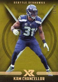 2017 Panini XR -GOLD Kam Chancellor