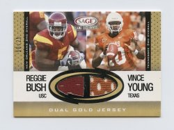 2006 SAGE Game Exclusive Jersey Combos Gold #CG2 Reggie Bush Coll/Vince Young College/25
