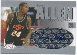 2004 Sage  Allen, Tony - Autographs Silver