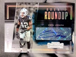 2016 Panini Contenders Karl Joseph Rookie Roundup Autograph Gold Parallel