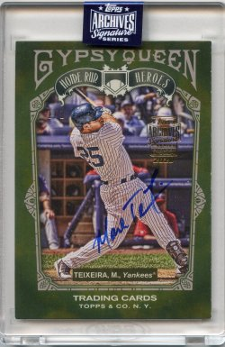 2020 Topps Archives Signatures Retired Mark Teixeira 2011 Topps Gypsy Queen Home Run Heroes