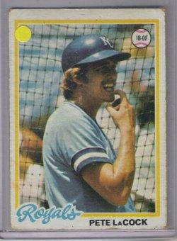 1978 Topps base Pete LaCock
