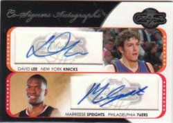 2008-09 Topps Co-Signers  David Lee / Marreese Speights - Dual Autographs
