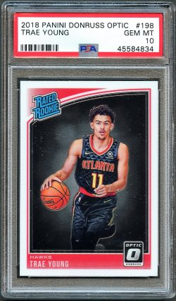 2018   Trae Young Optic Rated Rookie RC PSA 10