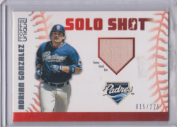 "2009 Topps Unique Adrian Gonzalez ""Solo Shot"" GU Bat"