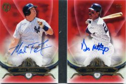 2016 Topps Tribute Mark Teixeira Don Mattingly Tribute Tandem Autographs Red