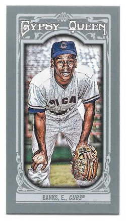2013 Topps Topps Gypsy Queen Mini Ernie Banks (SP Variation)