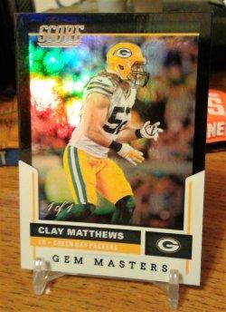 2017 Fleer Score Gem Masters Clay Matthews