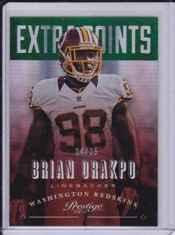 Brian Orakpo 2013 Prestige Extra Points Green /25